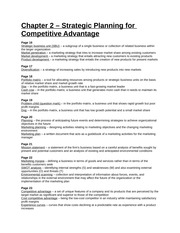 Study Guide - Part 1 - Chapter 2 - Strategic Planning for Competitive Advantage