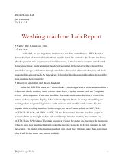 LabReport_WashingMachine