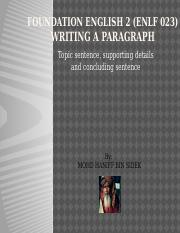 2 ~ Writing a Paragraph.pptx