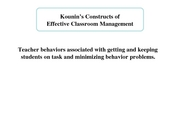15 Kounin's Principles of Effective Classroom Management