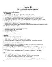 Econ2125 Midterm Chapter 10 The Environment and Development