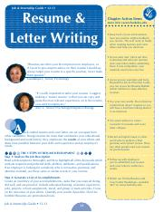ResumeLetterWriting