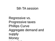 5th TA Session