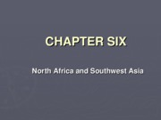 Chapter 6 North Africa