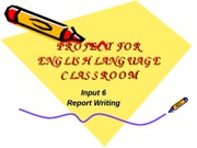 Input 11-Writing your report 2