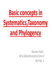 basicconcepts in systematics taxonomy and phylogenetic.pdf