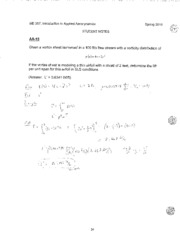 Student Notes Solution - LSN 15 - Thin Airfoil Theory