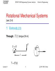 Lecture 8 - Oct.1.2013 - Rotational Mechanical Systems