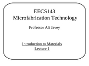 Section 1 - Introduction to Materials