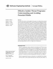 Effective Insider Threat Programs (Carnegie Mellon)