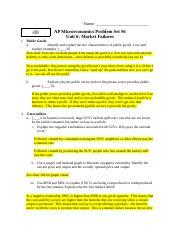 Problem Set Answer Key Docx Name 49 Ap Microeconomics
