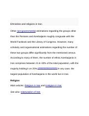 Ethnicities and religions in Iran.docx