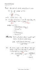 PHYS 11 Power and Efficiency Notes