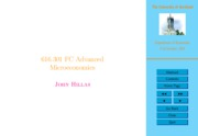 John Hillas Advanced Microeconomics