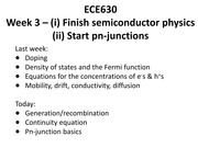 Lecture 3 sc phys pn junctions