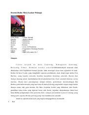 Resensi Buku Fiksi Laskar Pelangi Resensi Buku Fiksi Laskar Pelangi Judul Buku Penulis Negara Bahasa Genre Hal Penerbit Tahun Isbn Laskar Pelangi Course Hero