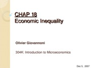 CHAP 18 - Economic Inequality