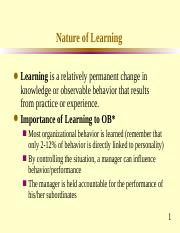 7 Learning