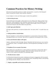 Common Practices for History Writing.docx