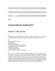 Commercial Law assignment 2.docx