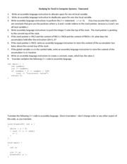 Help Session for Exam Two