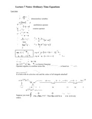 Lecture 7 Notes Ordinary Time Equations