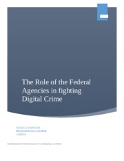 The Role of the Federal Agencies in fighting digital crime