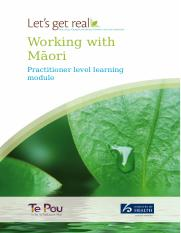 Lets-Get-Real-Working-with-Maori-Practitioner-Level-Learning-Module.doc