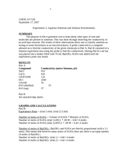 Aqueous Solutions and Solution Stoichiometry