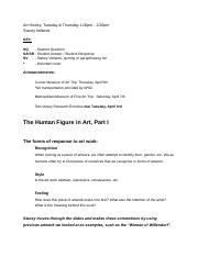 Art History_ The Human Figure in Art, Part I.docx