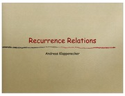 Lecture on Recurrences