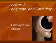 Lecture 2 Language Card Talk