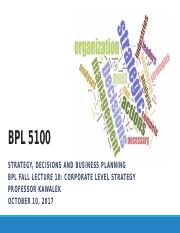 BPL Fall Lecture 10 Corporate Strategy 100917p.pptx