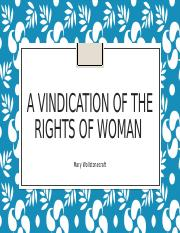 A Vindication of the rights of woman.pptx