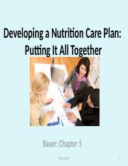 #5 PPT Feb 4 2016 2016  DEVELOPING A NUT CARE PLAN.ppt