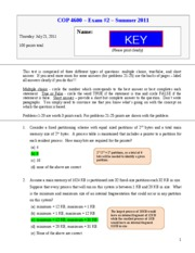 exam 2 - Summer 2011 KEY