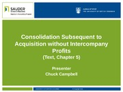 4. Consolidation Subsequent to Acquisition without Intercompany Profits(6)