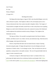 O'Connor 4 Belgium short paper graded
