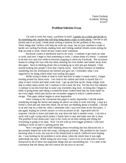 Problem and solution essays