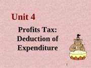 2012 Unit 4  Profit expenditure - s