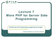 Lecture-07-More-PHP-for-Server-Side-Programming