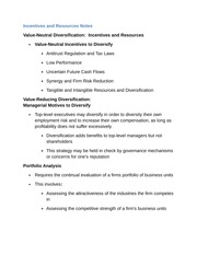 Incentives and Resources Notes