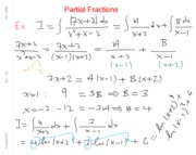 Math 104 Partial Fractions