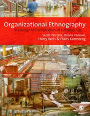 ETH Organizational Ethnography_ Studying the Complexities of Everyday Life