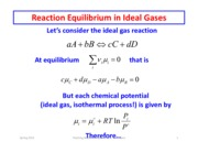 Equilibrium and Ideal Gases part 2