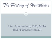 The History of Healthcare_Part 1