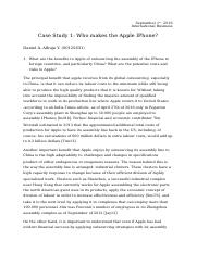Case Study 1 - Who makes the Apple IPhone.docx