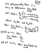 MATH 10101 Fall 2008 Limits and Polynomials Lecture Notes