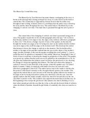 The Bluest Eye Central Idea essay.doc