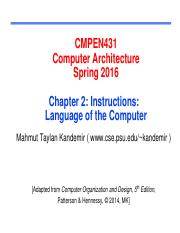 (2) - Instructions_Language of the Computer